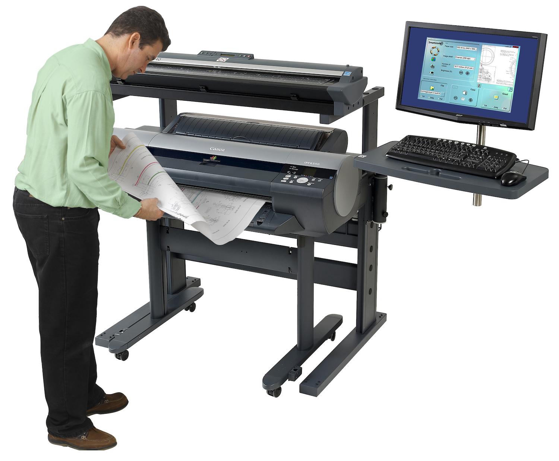 Печать, копирование и сканирование текстовых документов, чертежей, проектной документации.